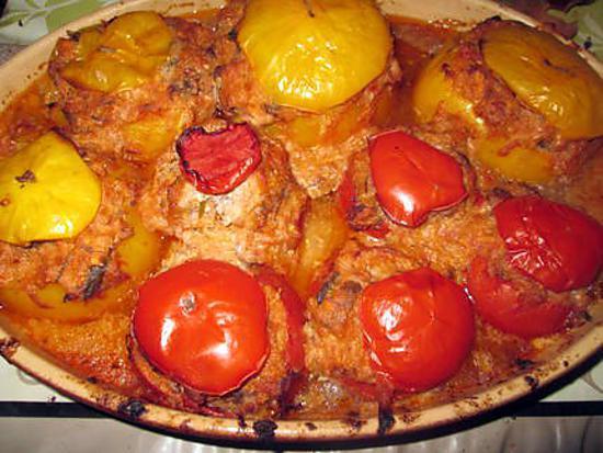 recette tomates farcies  au riz