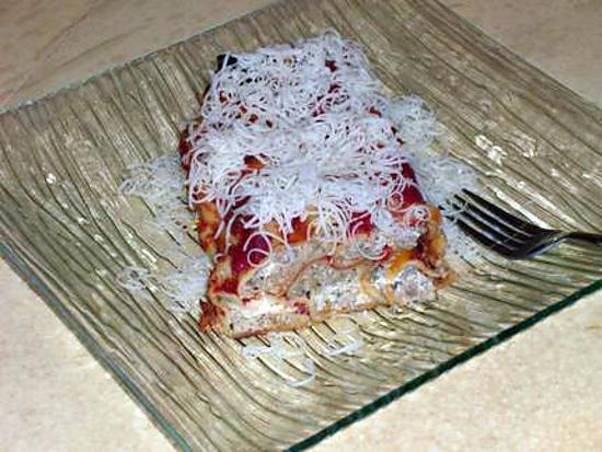 recette cannellonis aux quatres fromages(ricotta ,mozzarella ,parmesan ,mascarpone)