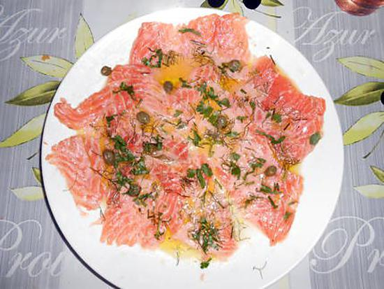 Un simple petit carpaccio de saumon 430