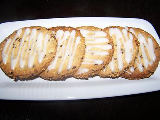 recette Biscuits graines de Sésame et de Lin - Glaçage au Thé Blanc
