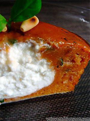recette Extra-moelleux à la tomate/basilic et coeur de ricotta