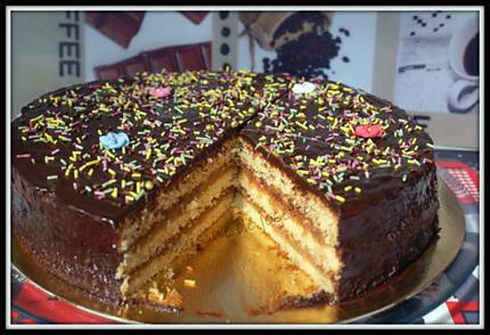 Recette de g teau a la cr me de ch taigne et chocolat - Recette gateau chocolat creme de marron ...