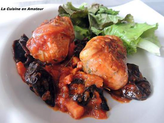 recette Crépinettes en sauce et champignons séchés