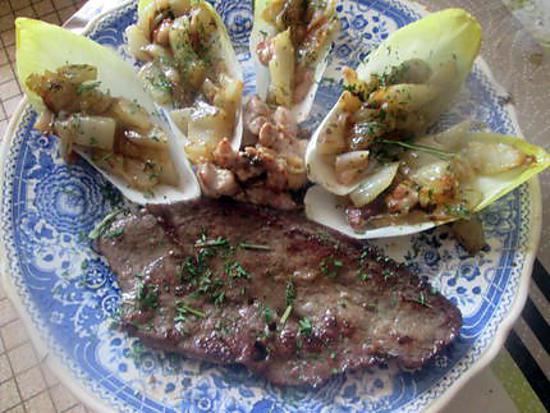 recette foie de veau et ris de veau  aux légumes