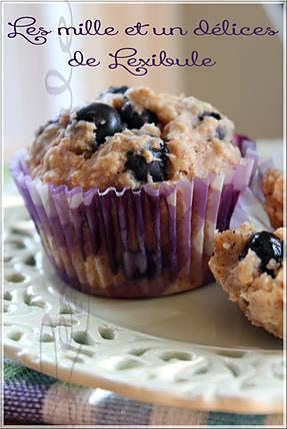 recette ~Muffins aux bleuets et à l'avoine~