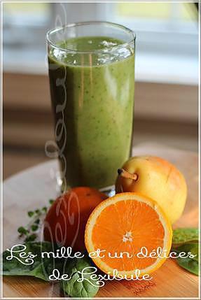 recette de smootie vert au poire orange et sirop d 39 rable. Black Bedroom Furniture Sets. Home Design Ideas