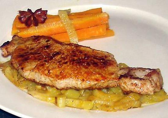Recette de c te de veau sur un lit de fenouil et carotte - Cuisiner plat de cote ...