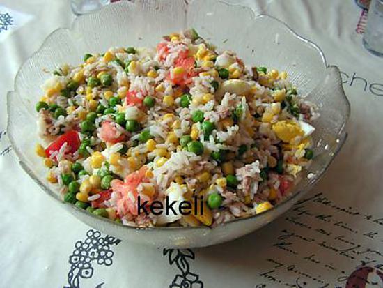 Salade de riz aux petits pois