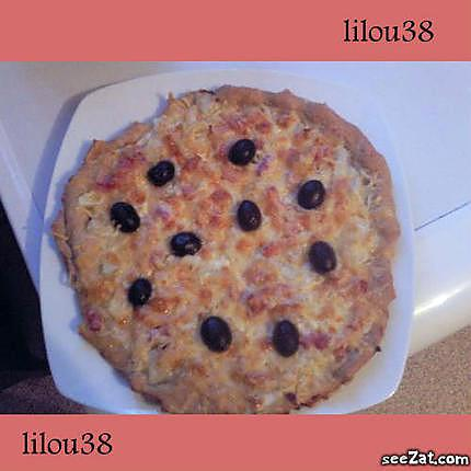 recette pizza lardons oignons