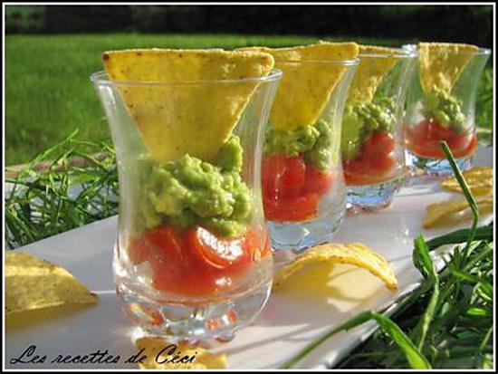 recette Tartare de tomate et guacamole en verrine