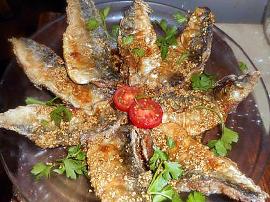 recette Filets de maquereau frits aux graines de sésame