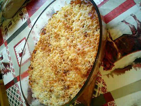 recette gratin de riz et ratatouille doré au four