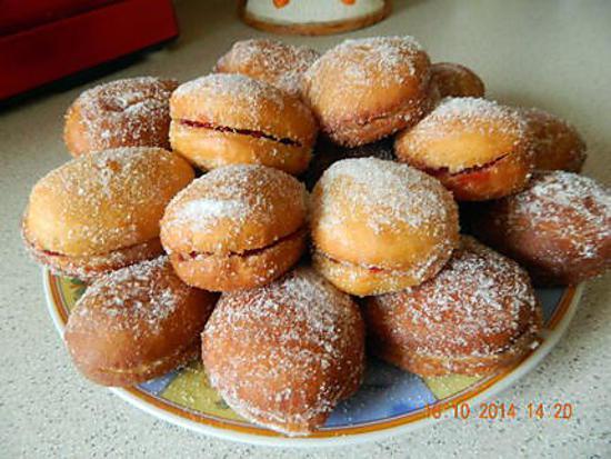 recette Beignets fourrés à la confiture et nutella