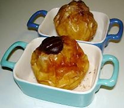 recette Pommes au four (cannelle, chocolat,...)