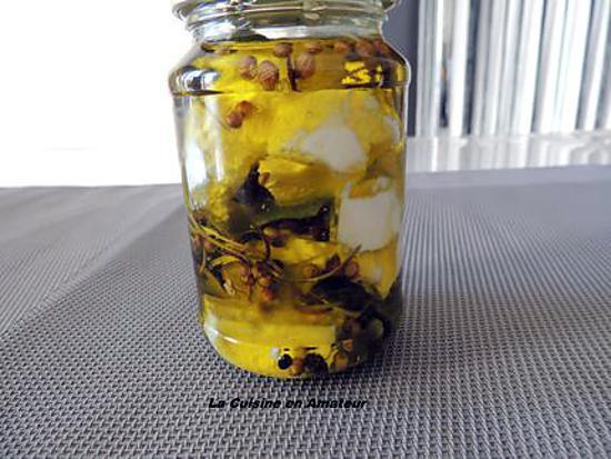 recette fromage frais de chèvre mariné à l'huile d'olive