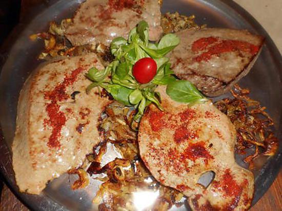 recette Foie de veau au paprika et aux oignons