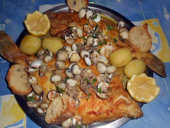 recette Carrelets aux coques