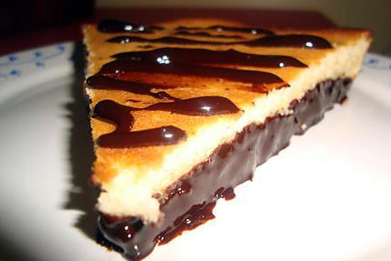 recette FONDANT AU CITRON ( sur un lit de chocolat )