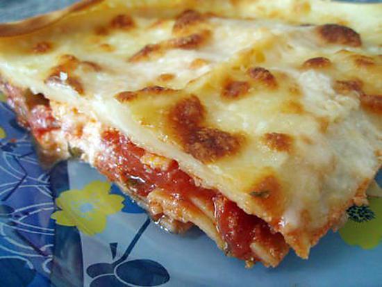 recette Lasagnes aux trois fromages