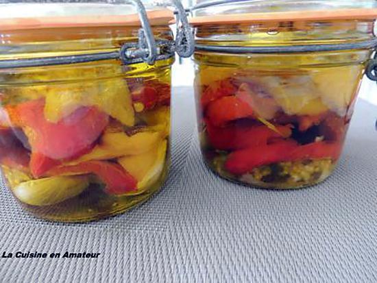 """recette Les poivrons marinés de """"Notre Amour de Cuisine"""""""