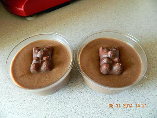 recette Crèmes aux oursons guimauve