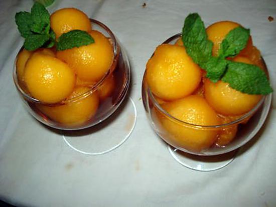 recette verrines de melon au vin du PORTO
