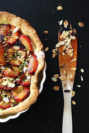 recette La tarte aux prunes d'Italie