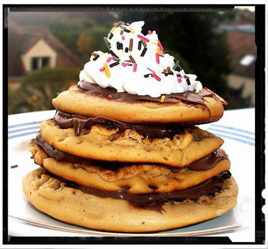 Recette De Mille Feuille De Pancakes A La Vanille Garni Nutella