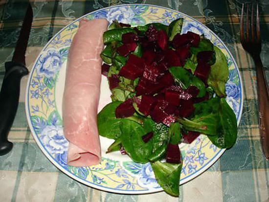 recette salade de maches aux betteraves rouge
