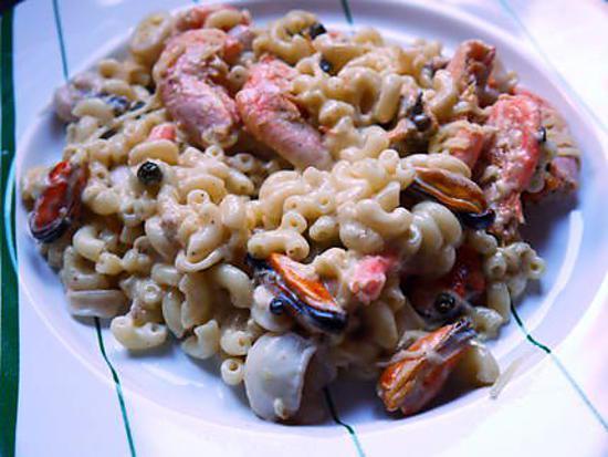 recette Coquillettes aux fruits de mer