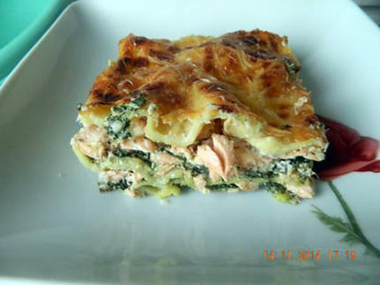 recette de lasagnes saumon pinards ricotta. Black Bedroom Furniture Sets. Home Design Ideas