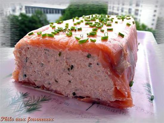 recette de terrine aux deux saumons par philo