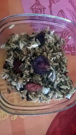 Recette de Riz aux champignons noirs et chorizo