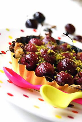 recette Sablé à la cerise pistache