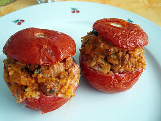 recettes tomates farcies riz. Black Bedroom Furniture Sets. Home Design Ideas