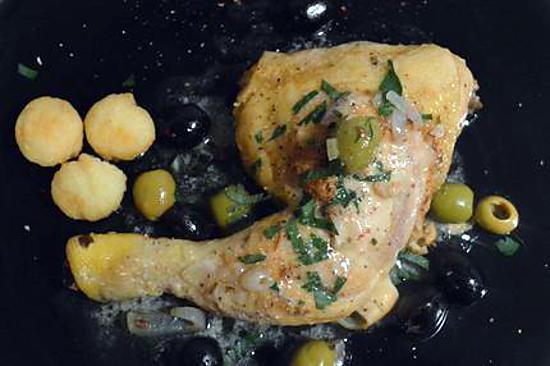 recette cuisses de poulet aux olives