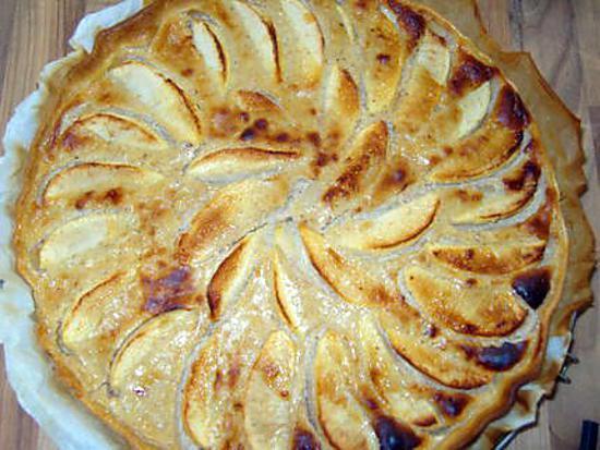 recette Tarte aux pommes amande /cannelle