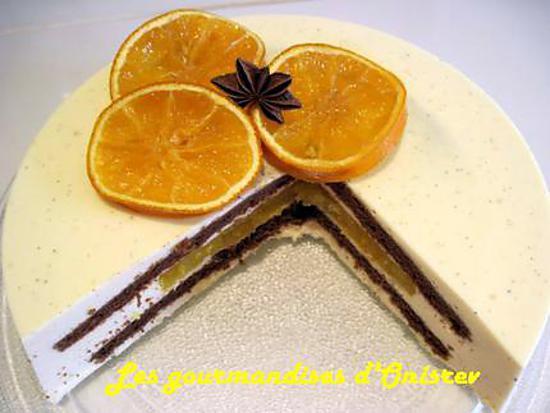 recette Bavarois au Cointreau, insert marmelade d'orange et gâteau chocolat
