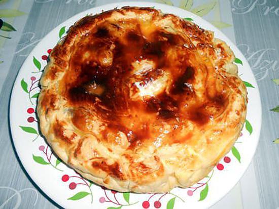 Tourte andouillette pommes de terre et champignons 430