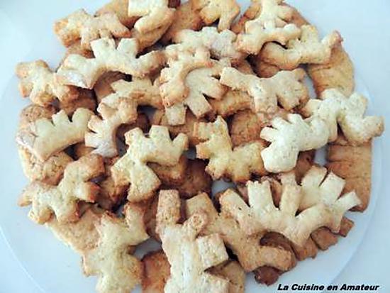 recette Petits bois de cerf à la clémentine: sablés