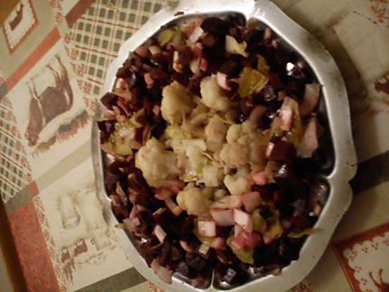 recette salade d'automne endive betterave choux fleur