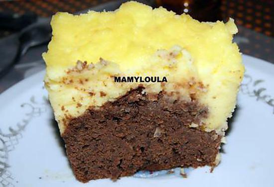 recette Gâteau au chocolat et mandarines à la crème au citron
