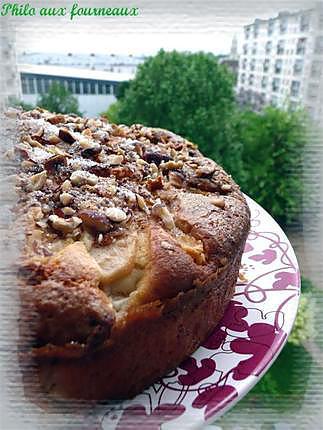 recette Gâteau aux poires & aux noisettes