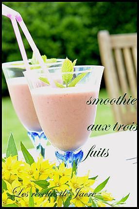 recette smoothie aux trois fruits