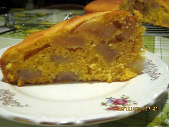 recette Gâteau au potiron et poires sans matière grasse