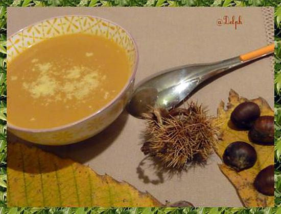 Recette de soupe de ch taignes et potiron - Soupe potiron cocotte minute ...