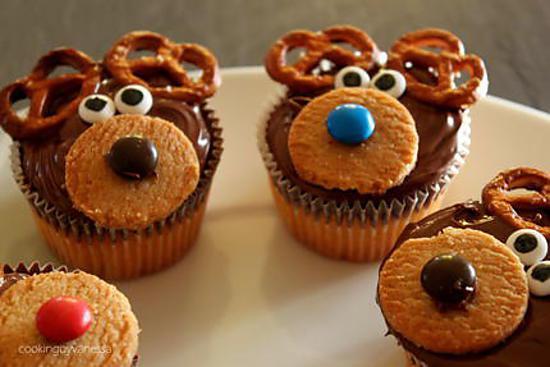 Recette de cupcakes rennes du pere noel - Recette de cupcake facile ...