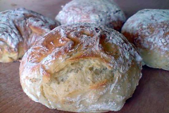 Recette de pains sans p trissage sans map par nell - Recette pain sans levure ...