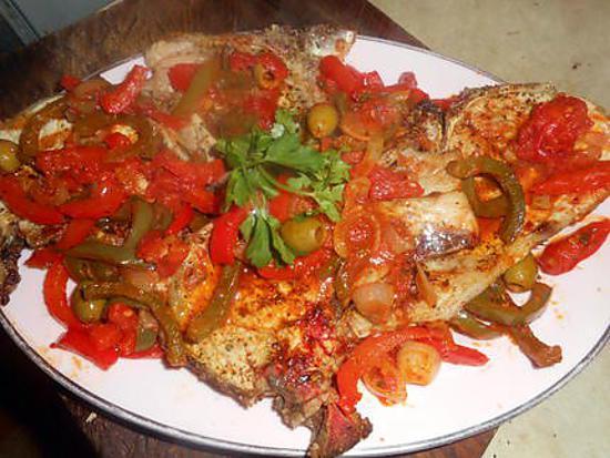 Recette de cotes de porc grill es basquaise - Comment cuisiner les crevettes congelees ...