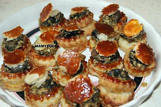 recette Bouchées d'escargots à la provençale.
